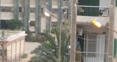 شكوى من إضاءة أعمدة إنارة صباحا بمنطقة سموحة بالاسكندرية