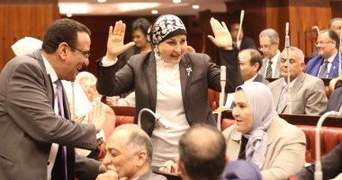 النائبة هالة أبو السعد توجه الشكر لأعضاء البرلمان بعد موافقتهم على كوتة المرأة