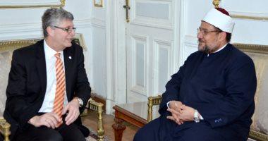 وزير الأوقاف يلتقى رئيس جمعية الصداقة البرلمانية المصرية الألمانية