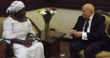 فايق يلتقى رئيسة المركز الإفريقي لدراسات الديمقراطية بمقر مجلس حقوق الإنسان