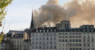 فيديو.. حريق فى كاتدرائية نوتردام بباريس