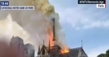 ماكرون يلغى خطاباً موجهاً للفرنسيين بسبب حريق الكاتدرائية