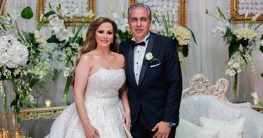 صور.. فنانون وإعلاميون ونجوم مجتمع فى حفل زفاف جيهان منصور.. صور وفيديو