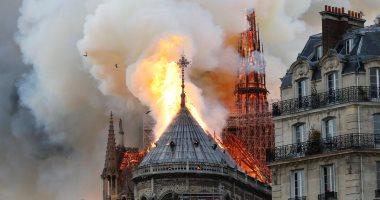 حريق كاتدرائية نوتردام باريس × 10 فيديوهات