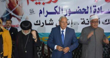 محافظ الدقهلية بكنيسة مارجرجس: المصريون سيبهرون العالم كما تعودوا دائما