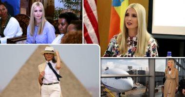 """نساء ترامب.. دبلوماسية واشنطن الناعمة لكسب ود القارة السمراء.. زيارة """"السيدة الأولى"""" تذيب خلافات """"البيت الأبيض"""".. وإيفانكا تقود مبادرة تمكين السيدات وتتابع رائدات صناعة البن والنسيج بإثيوبيا"""