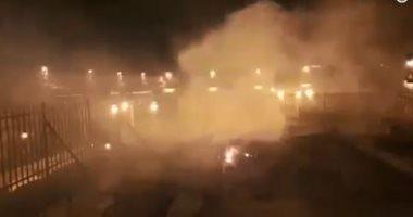 فيديو.. السيطرة على حريق بالمصلى المروانى فى المسجد الأقصى