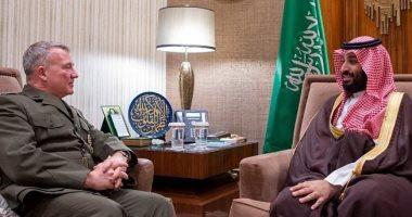 ولى العهد السعودى يبحث مع قائد القيادة المركزية الأمريكية التعاون فى محاربة الإرهاب