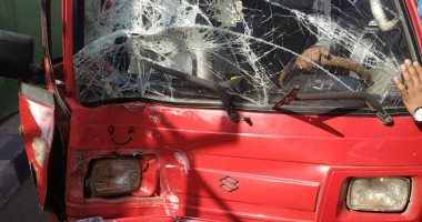 إصابة شخص فى حادث تصادم سيارتين بطريق الفيوم الصحراوى