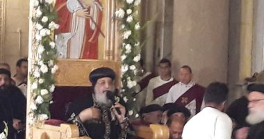 البابا تواضروس يصل الإسكندرية لعقد لقاء الشباب