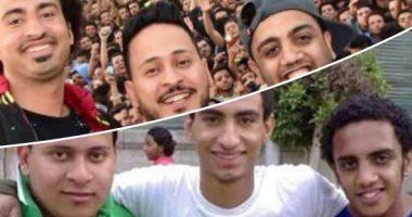 الفرق بين الصورتين 13 سنة.. ثلاثى مسرح مصر فى جامعة القاهرة قبل وبعد النجومية