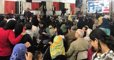 شعبان عبدالرحيم ومصطفى كامل يحييان مؤتمرا جماهريا بمنطقة بين السرايات