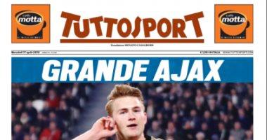 """صفعة قوية من """" توتوسبورت"""" إلى يوفنتوس بعد توديع دوري أبطال أوروبا.. صور"""