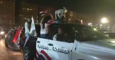 شاهد.. المصريون يحتفلون بتعديل الدستور في ميادين القاهرة