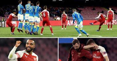 نابولى ضد أرسنال.. الجانرز يتأهل لنصف نهائى الدوري الأوروبى بمشاركة الننى