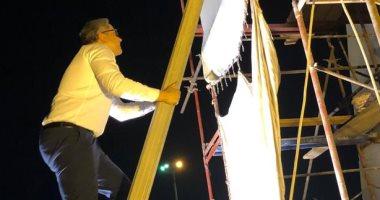 صور.. وزير الآثار يطمئن فور وصوله على تجميع وتركيب تمثال رمسيس بالأقصر