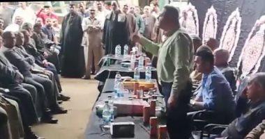 فيديو.. تجار العبور يحتشدون بمؤتمر جماهيرى للحث على المشاركة فى الاستفتاء
