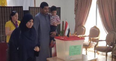 صور..المصريون فى البحرين يدلون بأصواتهم فى الاستفتاء على التعديلات الدستورية