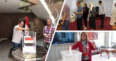 فى الساعات الأولى..مشاركة المصريين بالخارج باستفتاء الدستور × 7 فيديوهات