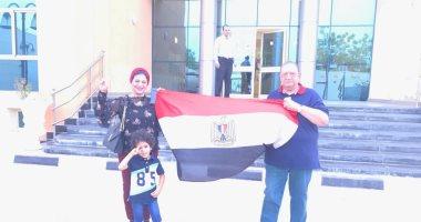 """نسرين من قطر عن مشاركتها فى التصويت على التعديل الدستورى """"الناس فرحانة"""""""