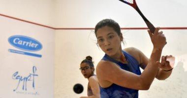 زينة مكاوى تتأهل لدور الـ16 ببطولة الجونة الدولية للاسكواش