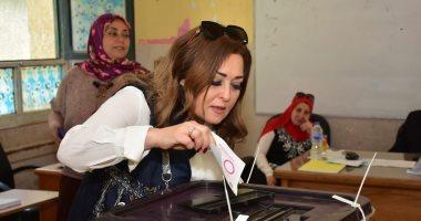 نهال عنبر توجه رسالة للمواطنين  بعد الادلاء بصوتها بالتعديلات الدستورية