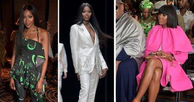 """3 أزياء فى اليوم..بالصور شاهد ناعومى كامبل بـ"""" أسبوع الموضة فى نيجيريا"""""""