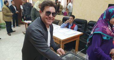 هاني شاكر يدلي بصوته علي التعديلات الدستورية فى الهرم