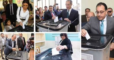 حكومة مدبولى تتقدم صفوف المشاركين فى الاستفتاء على تعديل الدستور