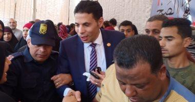 صور.. النائب سعيد حساسين: أول مرة فى حياتى أرى هذا الإقبال فى الاستفتاء