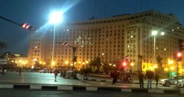 أكبر لافتة رقمية على مجمع التحرير تدعو للمشاركة فى الاستفتاء