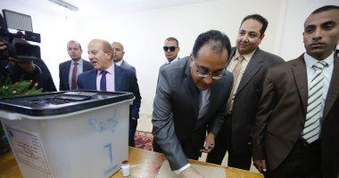 فيديو.. رئيس الوزراء عقب الإدلاء بصوته: الاستفتاء رسالة إلى العالم باستقرار مصر