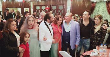 صلاح عبد الله يشارك على الحجار الاحتفال بعيد ميلاده الـ 65.. صور