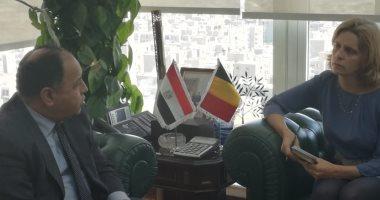 وزير المالية لسفيرة بلجيكا: نسعى لرفع معدلات النمو لـ 6%وخفض البطالة