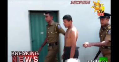 شاهد ..لحظة القبض على أحد المشتبه بهم فى تفجيرات سريلانكا