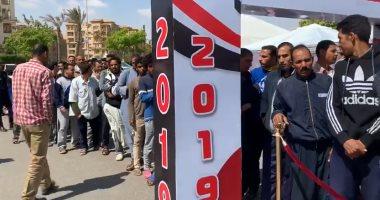 بالفيديو.. أطول طابور أمام لجنة الفردوس بمدينة بدر فى ثانى أيام الاستفتاء