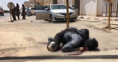 مشاهد أولى للهجوم الإرهابى على مركز شرطة فى السعودية ومقتل المهاجمين