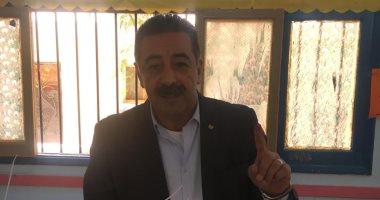 أبو فريخة يصوت فى الاستفتاء على التعديلات الدستورية بطنطا