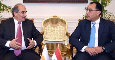 رئيس الوزراء يستقبل رئيس البرلمان القبرصى بحضور وزير شئون مجلس النواب