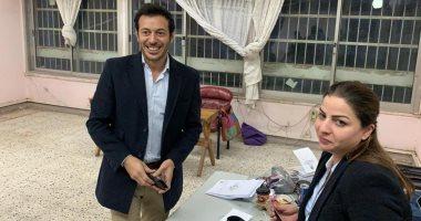 مصطفى شعبان يدلى بصوته فى الاستفتاء على التعديلات الدستورية