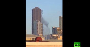 فيديو.. مياه تتدفق من سقف ناطحة سحاب جراء زلزال الفلبين.. اعرف التفاصيل