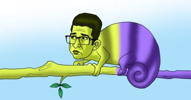 كاريكاتير اليوم السابع.. المتلون هيثم الحريرى