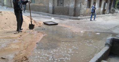 شكوى من انتشار مياه الصرف الصحى بشارع حسين أبو النجا بزهراء مصر القديمة