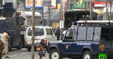 شاهد لحظة الانفجار الجديد قرب أحد الكنائس فى العاصمة السريلانكية