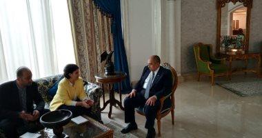 """وزير الزراعة يبحث مع """"الإيفاد"""" تكثيف التعاون لتحقيق التنمية الشاملة"""