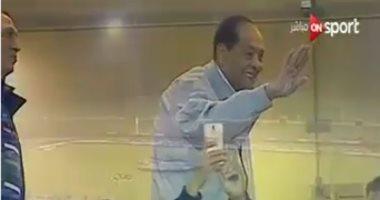 فيديو.. المشير طنطاوى فى الدفاع الجوى لمتابعة مباراة الزمالك وبيراميدز