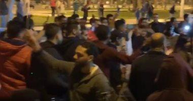 احتفالات بميدان التحرير بعد الموافقة على تعديل الدستور (فيديو)