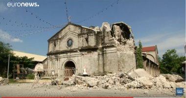 فيديو.. زلزال الفلبين يتسبب فى دمار هائل وعشرات القتلى والمصابين