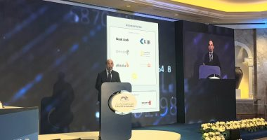 رئيس بنك القاهرة خلال أعمال المؤتمر المصرفى العربى