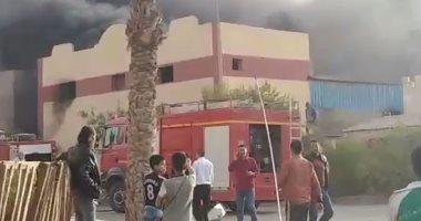 الحماية المدنية تسيطر على حريق بمجمع مصانع مدينة بدر